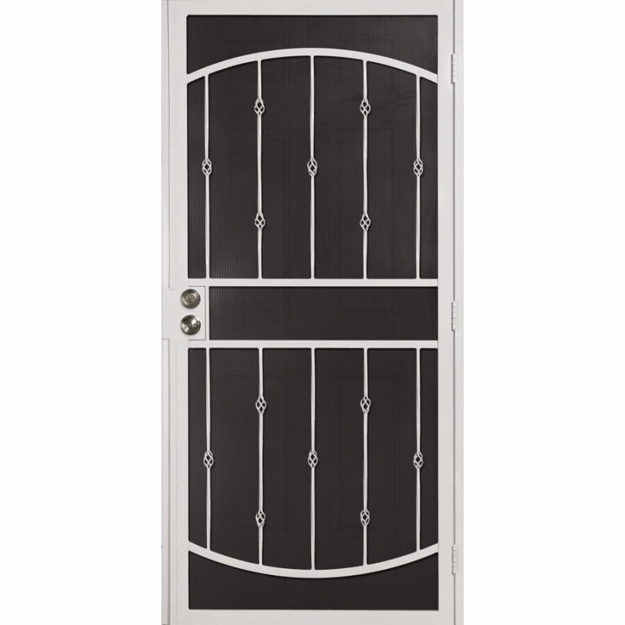 Gatehouse Pendleton White Steel Surface Mount Single Security Door (Common: 36-in x 81-in; Actual: 39-in x 81.75-in)
