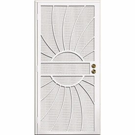 Gatehouse Sunburst White Steel Surface Mount Single Security Door Common 36 In X