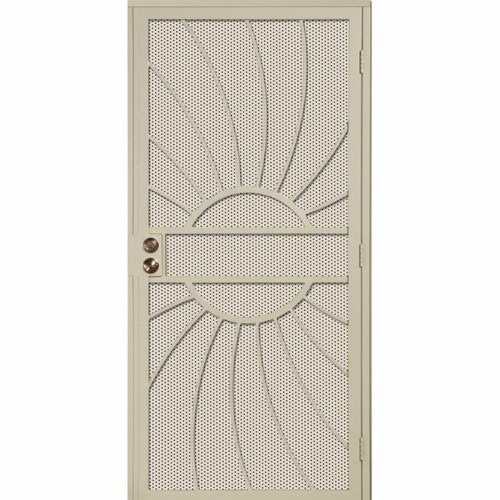 Gatehouse Sunburst Almond Steel Single Door Security Door ...