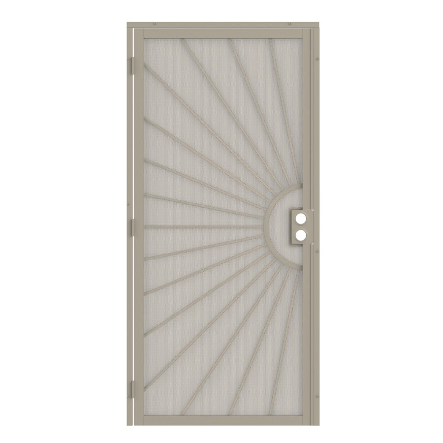 Gatehouse Sunset Almond Steel Security Door (Common: 32-in x 81-in; Actual: 35-in x 81.75-in)