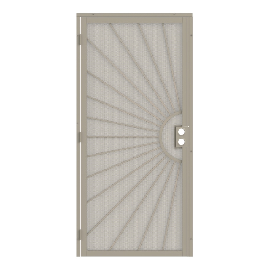 Gatehouse Sunset Almond Steel Surface Mount Single Security Door (Common: 36-in x 81-in; Actual: 39-in x 81.75-in)