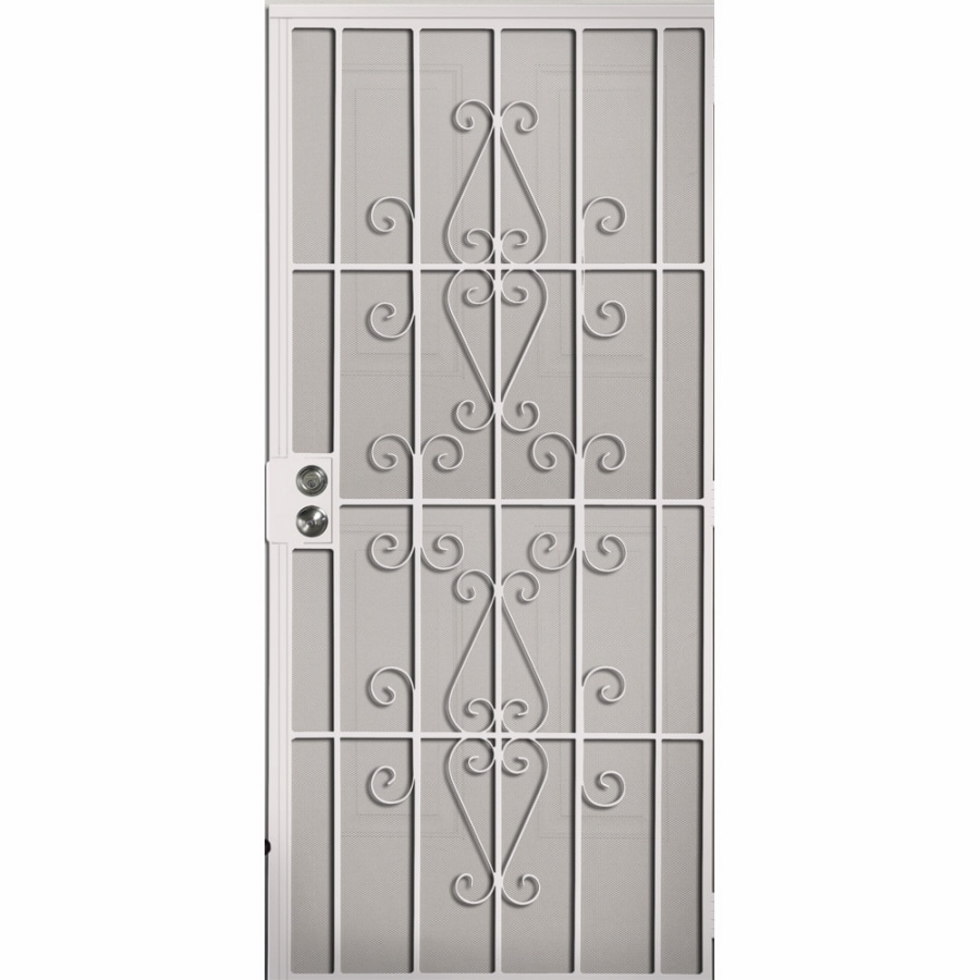 Shop Gatehouse Achilles White Steel Surface Mount Single Security ...