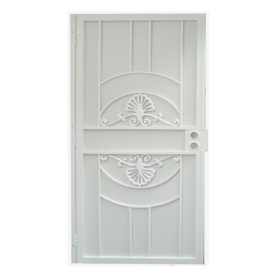 Shop gatehouse alexandria white steel surface mount single for 30 inch storm door