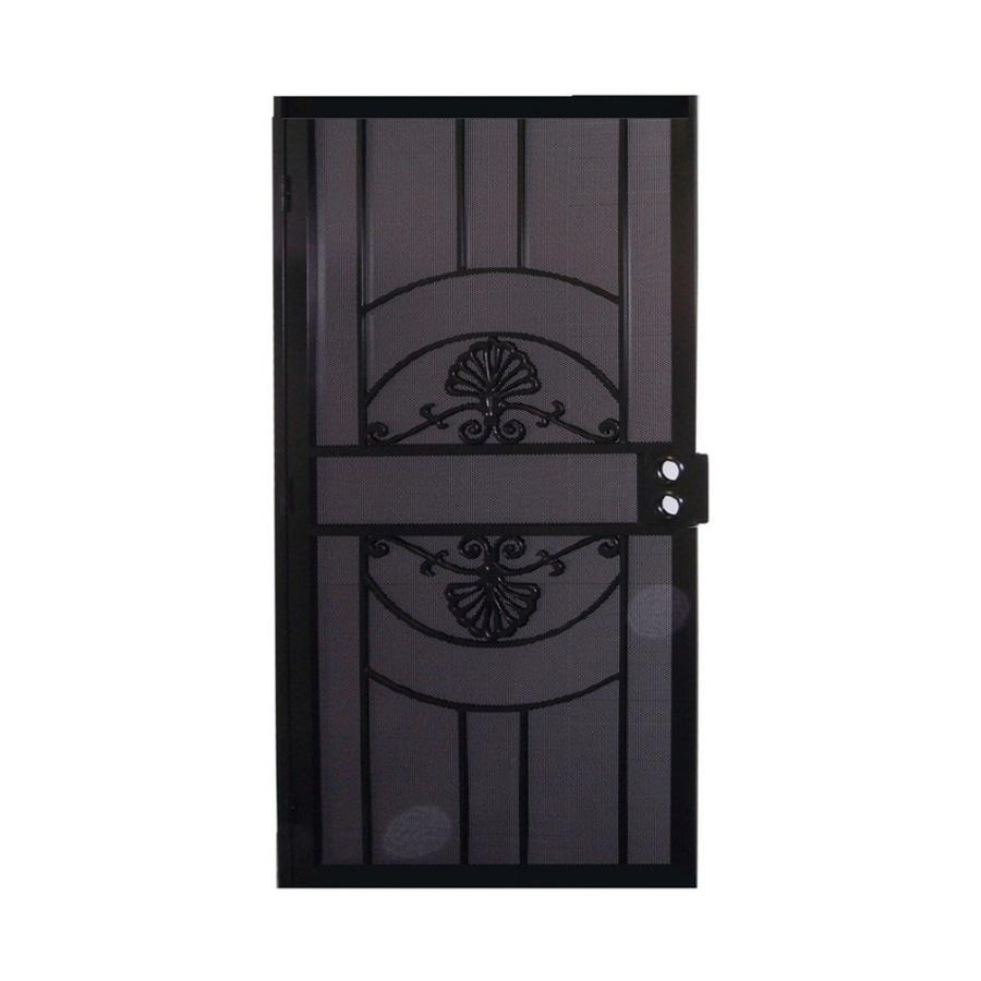 Gatehouse Alexandria Black Steel Security Door (Common: 36-in x 81-in; Actual: 39-in x 81.75-in)