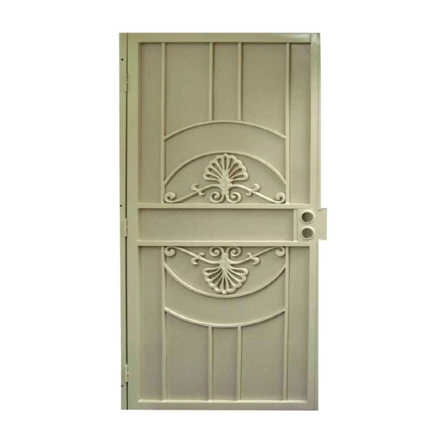 Gatehouse Alexandria Almond Steel Surface Mount Single Security Door (Common: 36-in x 81-in; Actual: 39-in x 81.75-in)