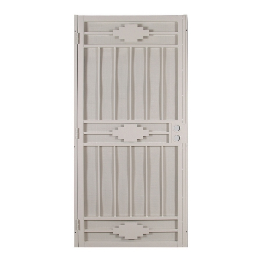 Gatehouse Cherokee Almond Steel Surface Mount Single Security Door (Common: 36-in x 81-in; Actual: 39-in x 81.75-in)