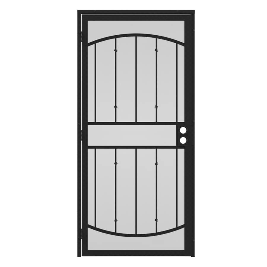 Gatehouse Gibraltar Silver Steel Surface Mount Single Security Door (Common: 32-in x 81-in; Actual: 35-in x 81.75-in)