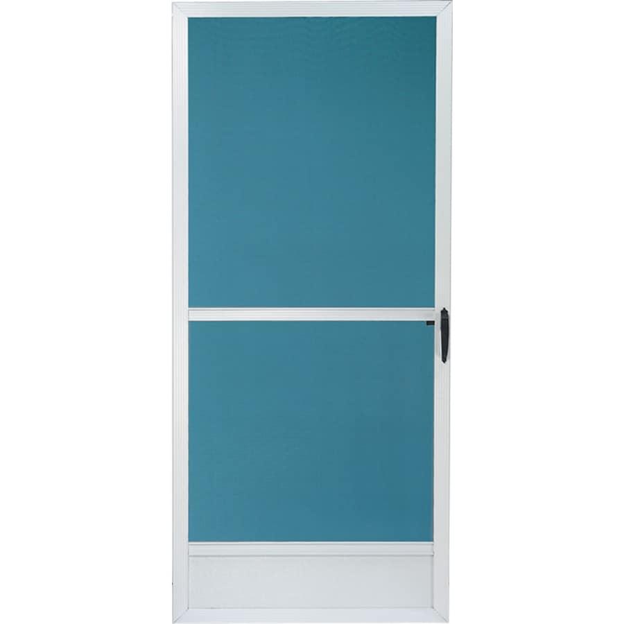 Comfort-Bilt Seaside Aluminum Hinged Screen Door (Common: 36-in x 80-in; Actual: 35-in x 79.25-in)
