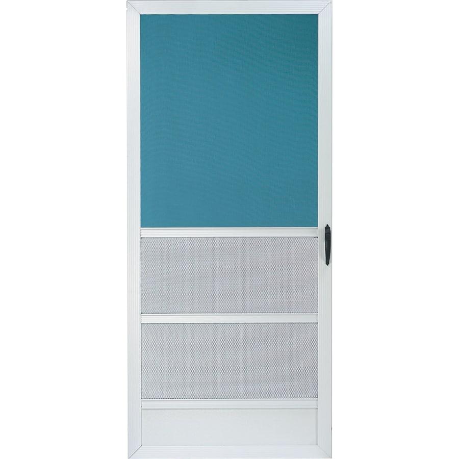 Comfort-Bilt Oceanview White Aluminum Hinged 5-Bar Screen Door (Common: 36-in x 80-in; Actual: 35-in x 79.25-in)