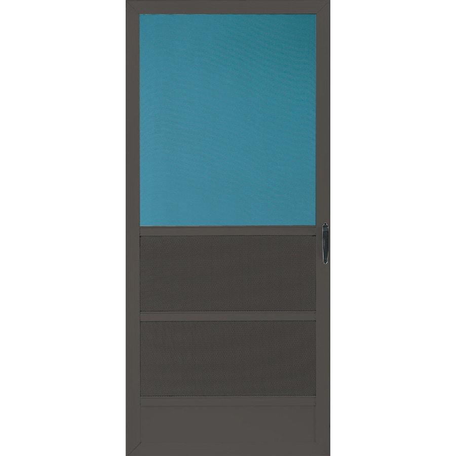 Shop comfort bilt oceanview brown aluminum hinged 5 bar for Door 31 5 x 79