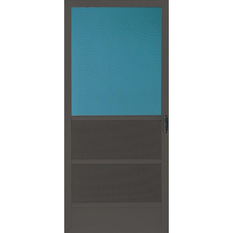 Comfort-Bilt Oceanview Brown Aluminum Hinged 5-Bar Screen Door (Common: 36-in x 80-in; Actual: 35-in x 79.25-in)