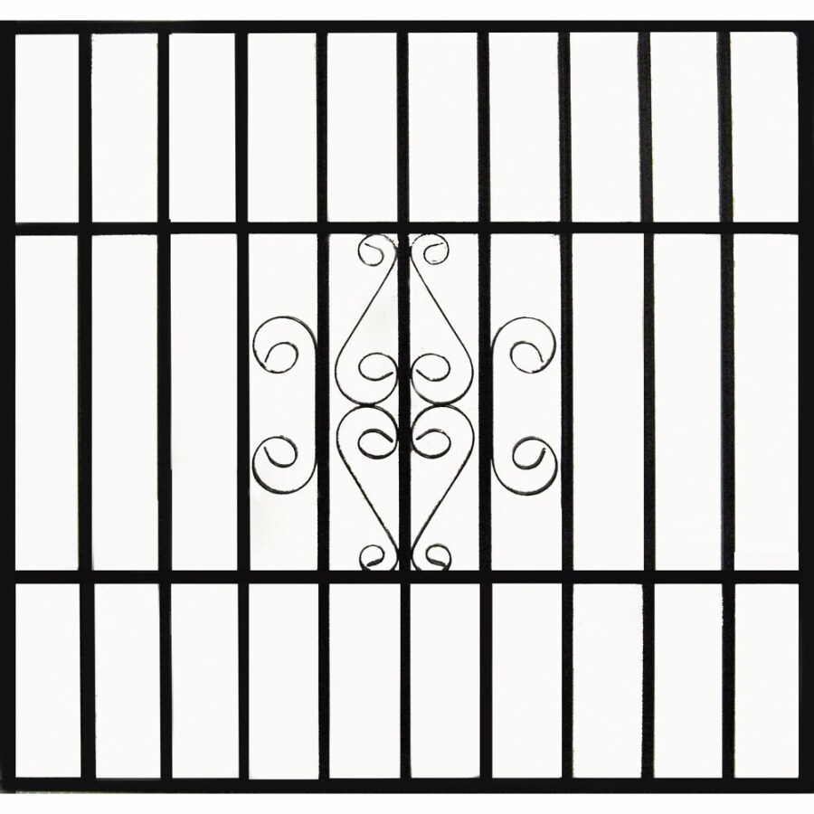 Gatehouse Gatehouse 36-in x 48-in Black Scroll Window Security Bar