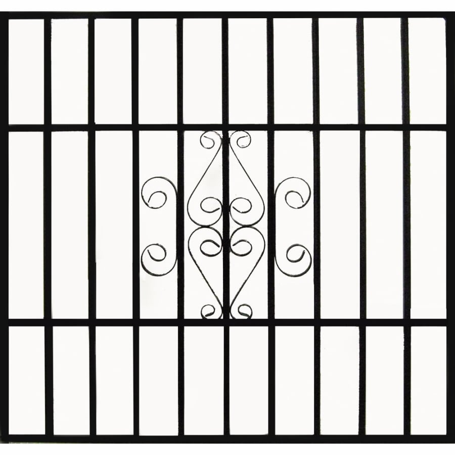 Gatehouse 48-in Black Scroll Window Security Bar