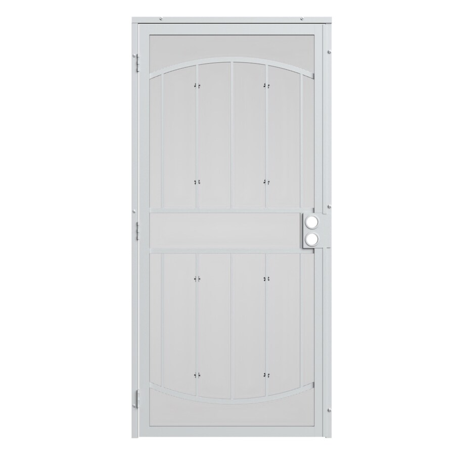 Gatehouse Gibraltar White Steel Surface Mount Single Security Door (Common: 36-in x 96-in; Actual: 39-in x 97.75-in)