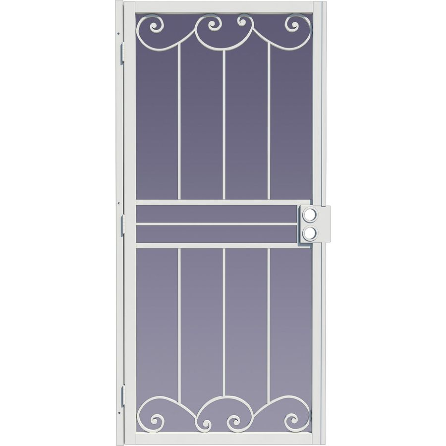 Shop Gatehouse Sonoma White Steel Surface Mount Single Security Door