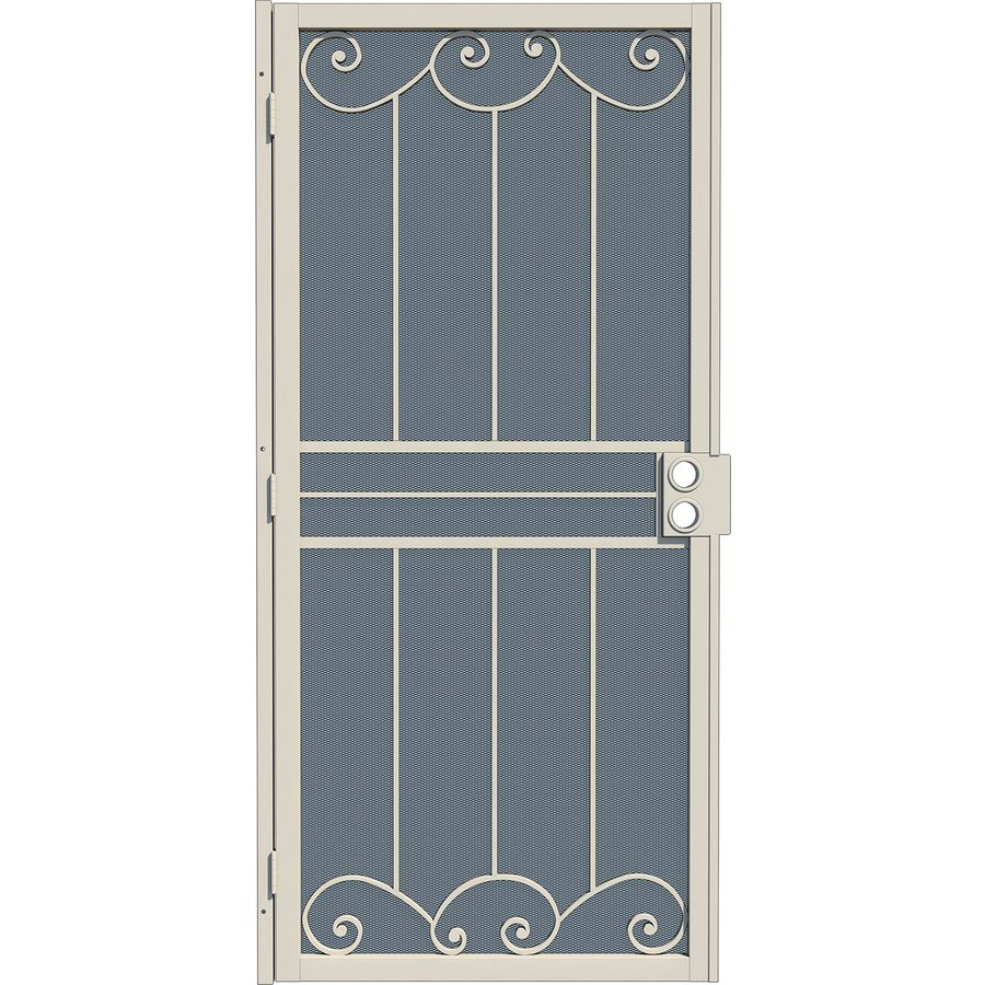 Gatehouse Sonoma Almond Steel Security Door (Common: 36-in x 80-in; Actual: 39-in x 81.75-in)