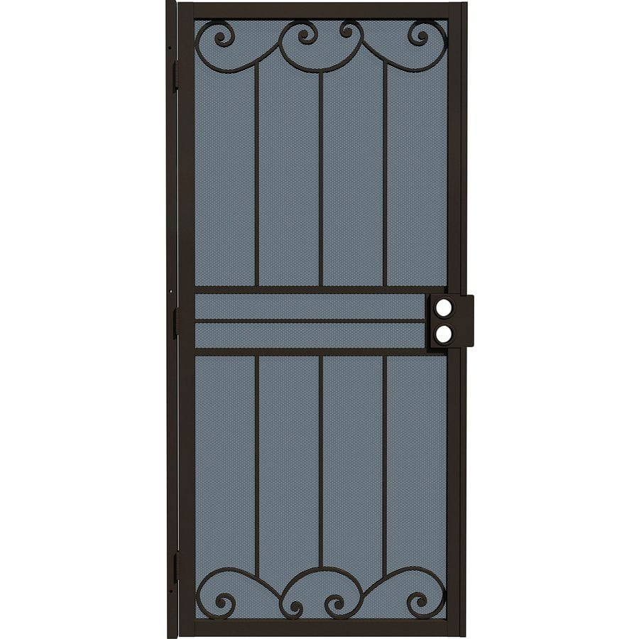 Gatehouse Sonoma Bronze Steel Security Door (Common: 32-in x 80-in; Actual: 35-in x 81.75-in)