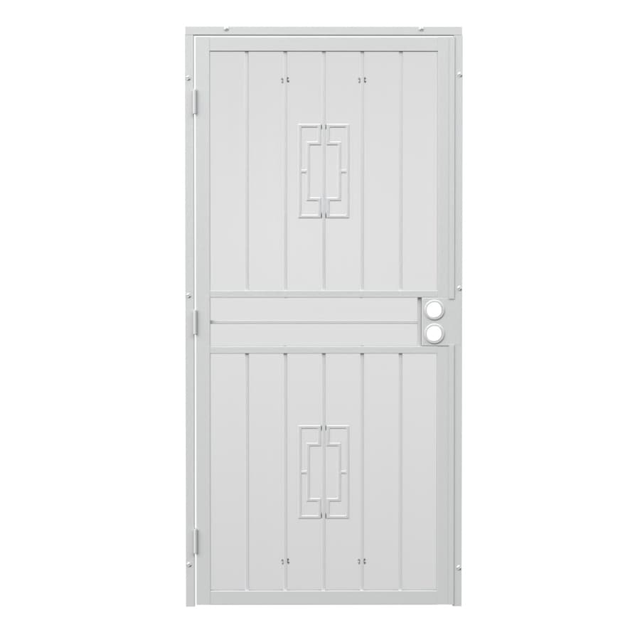 Gatehouse Ventura White Steel Surface Mount Single Security Door (Common: 32-in x 80-in; Actual: 35-in x 81.75-in)
