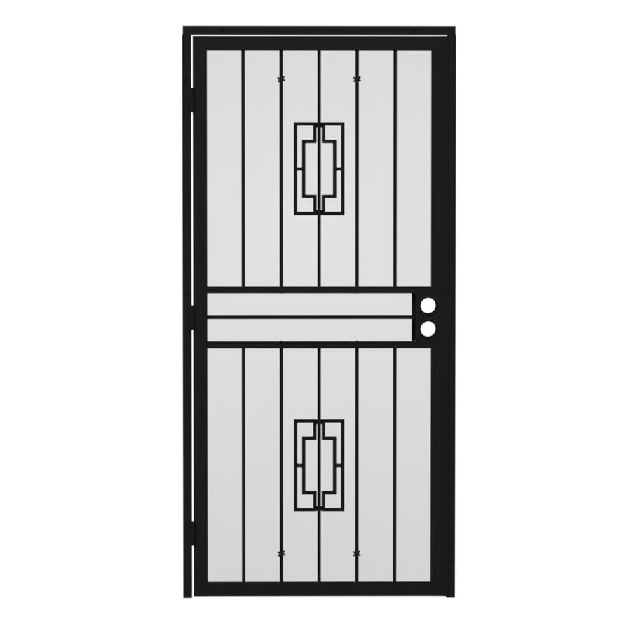 Gatehouse Ventura Black Steel Surface Mount Single Security Door (Common: 32-in x 80-in; Actual: 35-in x 81.75-in)