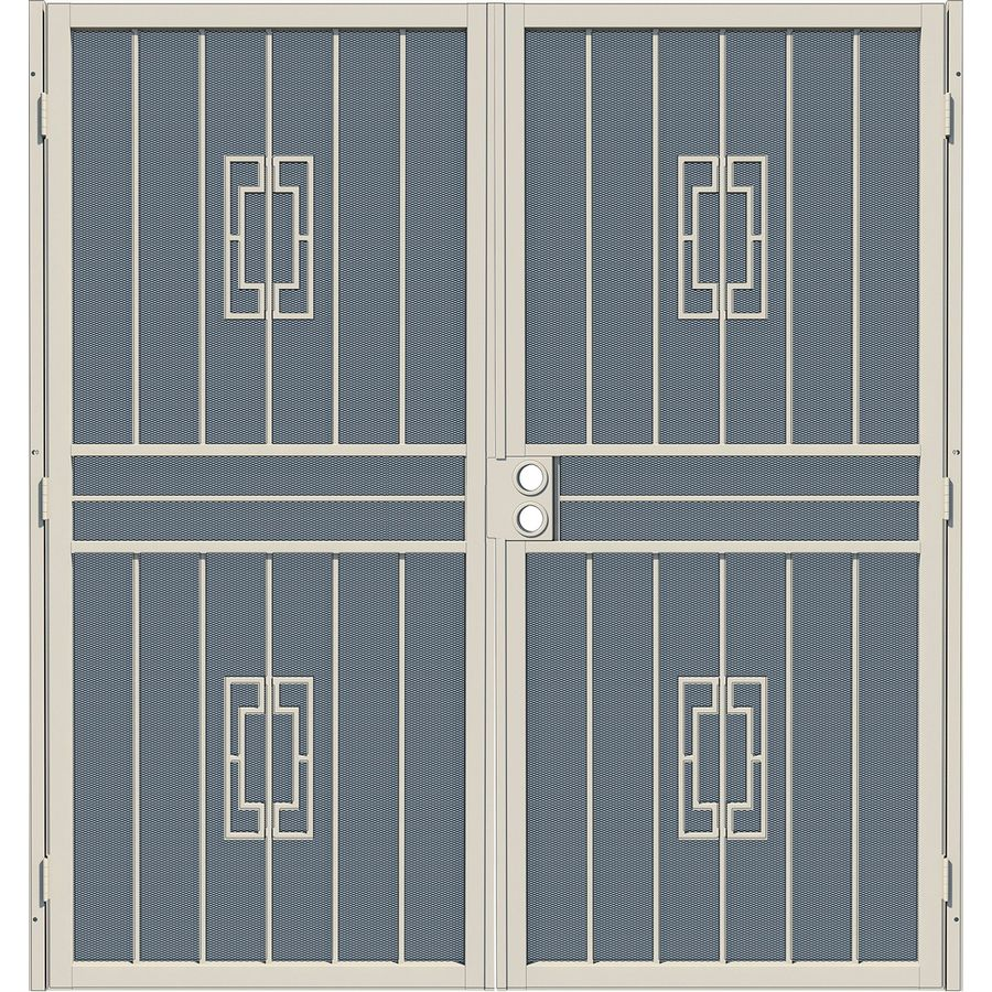 Gatehouse Ventura Almond Steel Surface Mount Double Security Door (Common: 64-in x 80-in; Actual: 67-in x 81.75-in)