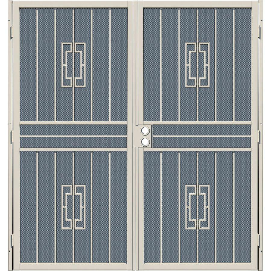 Gatehouse Ventura Almond Steel Security Door (Common: 64-in x 80-in; Actual: 67.25-in x 81.75-in)