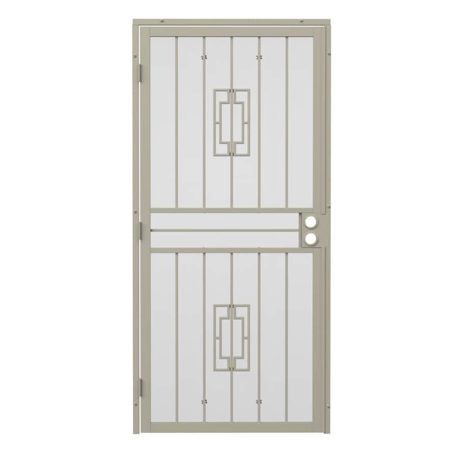Gatehouse Ventura Almond Steel Security Door (Common: 36-in x 80-in; Actual: 39-in x 81.75-in)