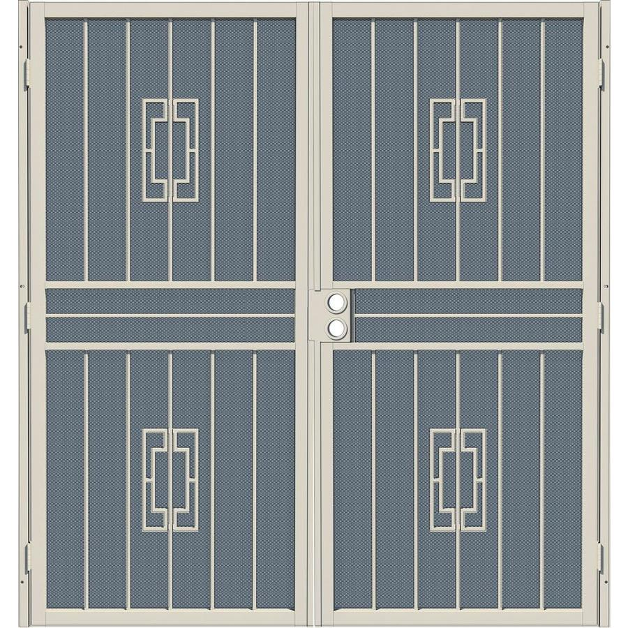 Gatehouse Ventura Almond Steel Surface Mount Double Security Door (Common: 72-in x 80-in; Actual: 75-in x 81.75-in)