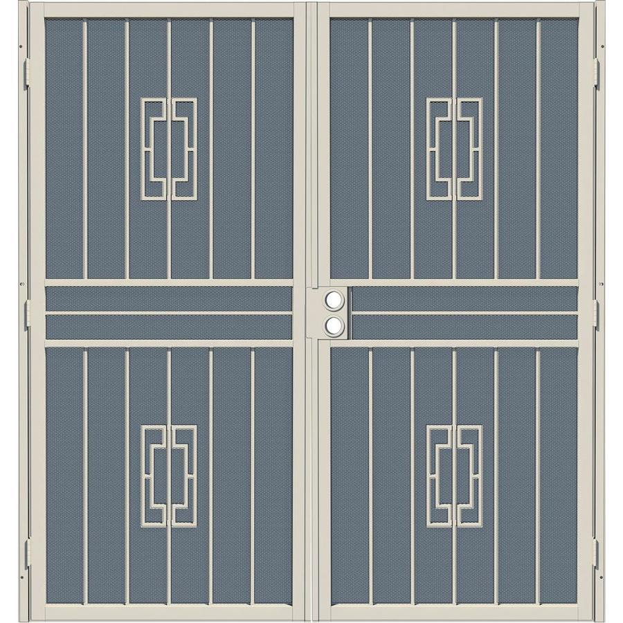 Gatehouse Ventura Almond Steel Security Door (Common: 72-in x 80-in; Actual: 75.25-in x 81.75-in)