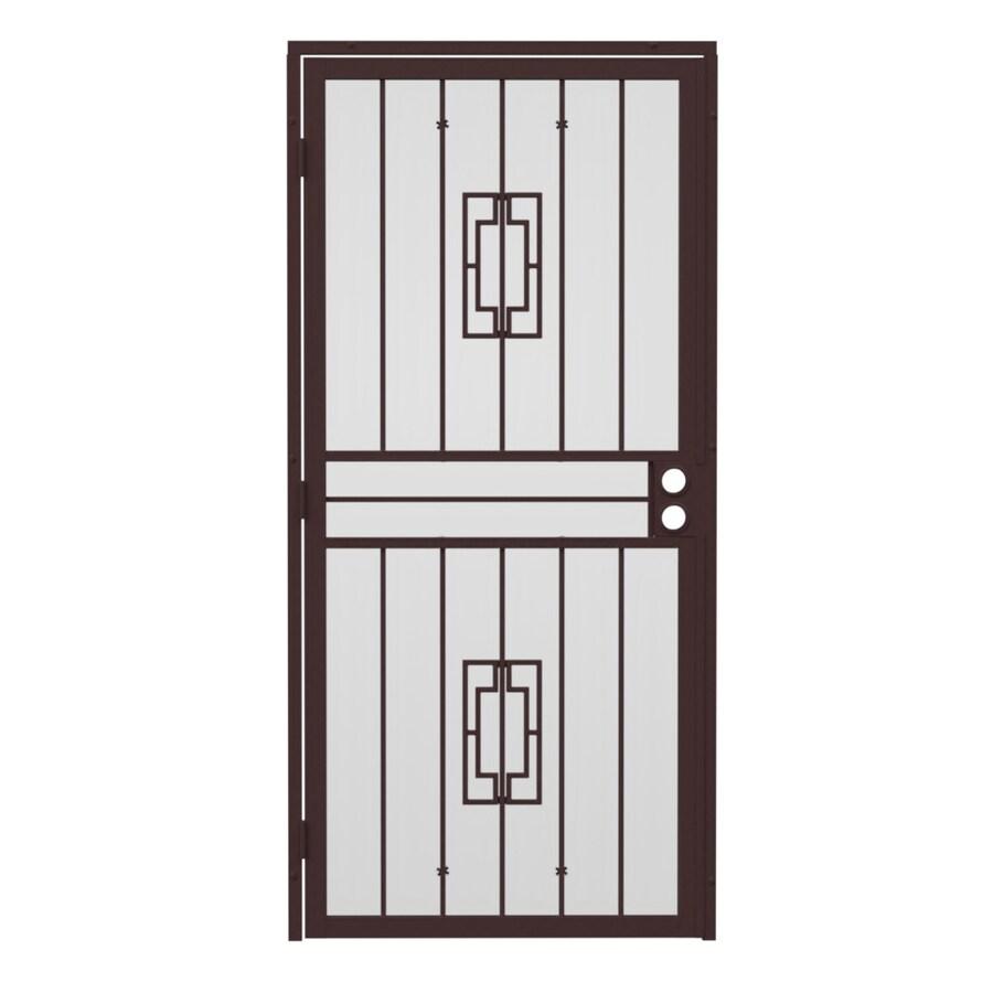 Gatehouse Ventura Bronze Steel Surface Mount Single Security Door (Common: 32-in x 81-in; Actual: 35-in x 81.75-in)