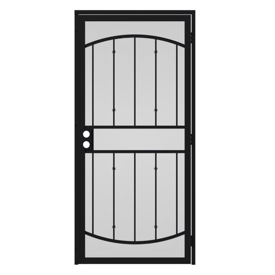 Gatehouse Gibraltar Black Steel Security Door (Common: 36-in x 96-in; Actual: 39-in x 97.75-in)