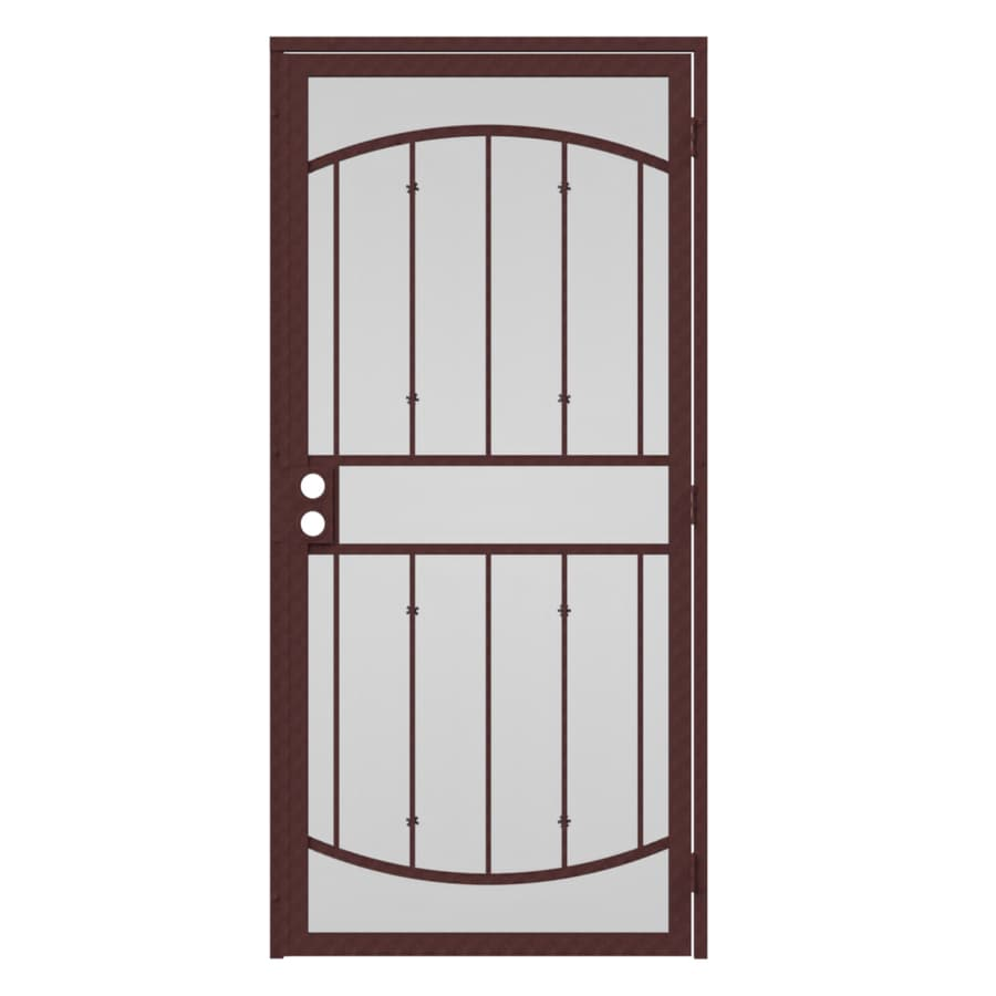 Gatehouse Gibraltar Bronze Steel Surface Mount Single Security Door (Common: 36-in x 96-in; Actual: 39-in x 97.75-in)
