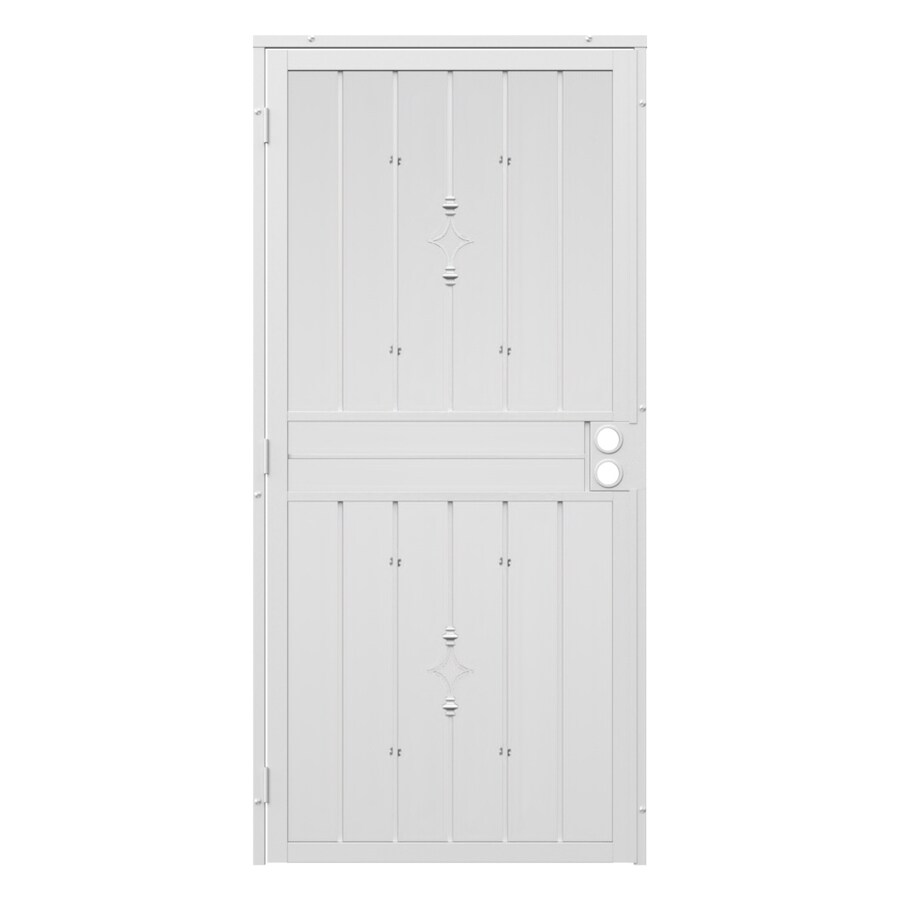 Gatehouse Covington White Steel Surface Mount Single Security Door (Common: 32-in x 81-in; Actual: 35-in x 81.75-in)