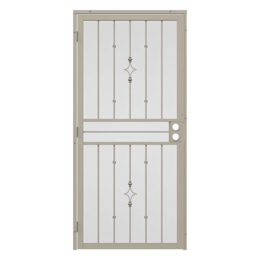 Gatehouse Covington Almond Steel Surface Mount Single Security Door (Common: 32-in x 81-in; Actual: 35-in x 81.75-in)
