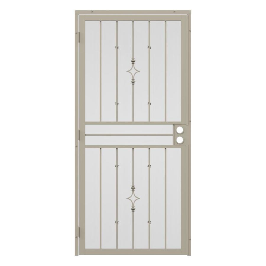 Gatehouse Covington Almond Steel Surface Mount Single Security Door (Common: 36-in x 81-in; Actual: 39-in x 81.75-in)