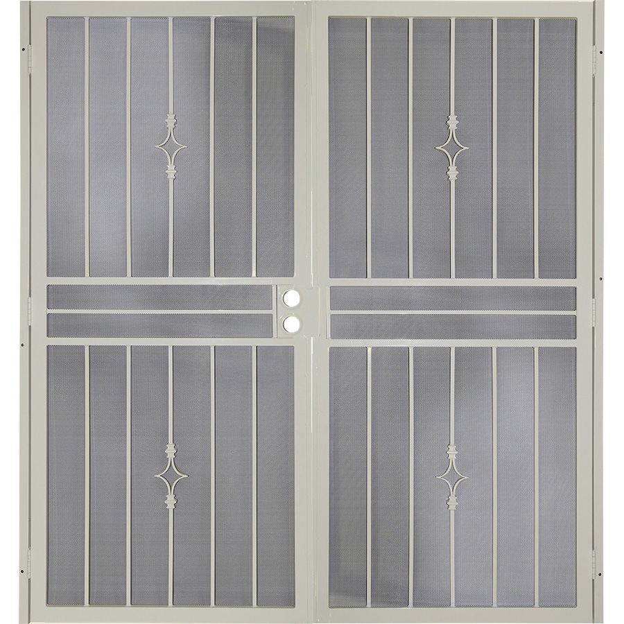 Gatehouse Covington Almond Steel Surface Mount Double Security Door (Common: 72-in x 81-in; Actual: 75-in x 81.75-in)
