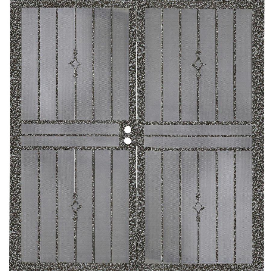Gatehouse Covington Silverado Steel Surface Mount Double Security Door (Common: 64-in x 81-in; Actual: 67-in x 81.75-in)