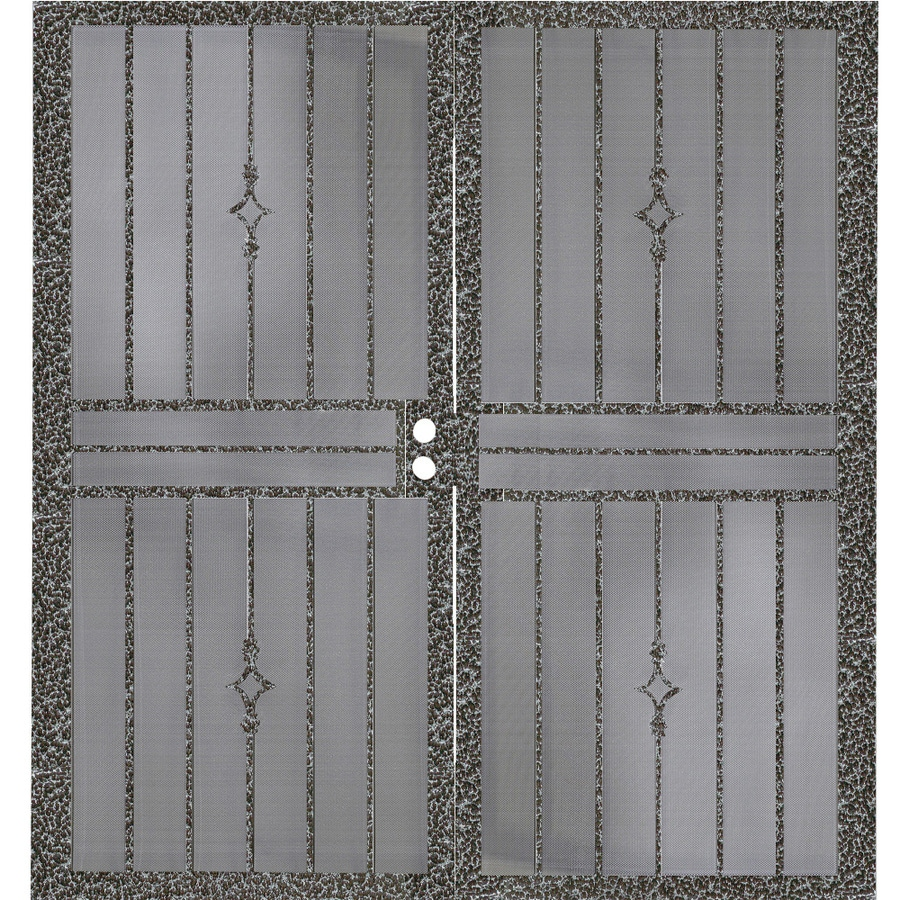 Gatehouse Covington Silverado Steel Surface Mount Double Security Door (Common: 72-in x 81-in; Actual: 75-in x 81.75-in)