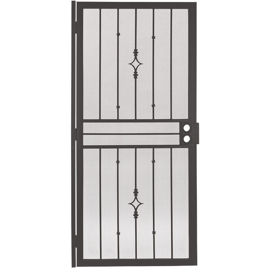 Gatehouse Covington Bronze Steel Surface Mount Single Security Door (Common: 32-in x 81-in; Actual: 35-in x 81.75-in)