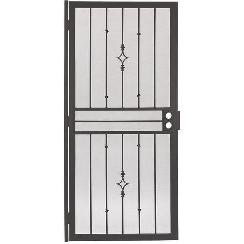 Gatehouse Covington Bronze Steel Single Door Security Door ...