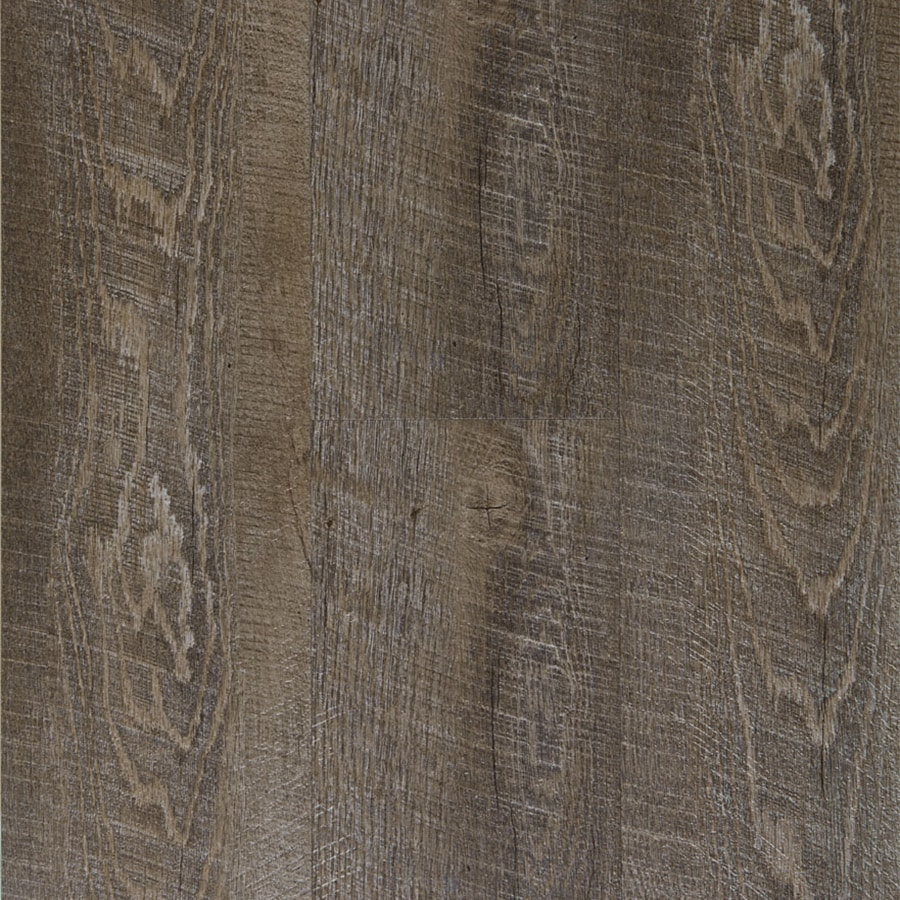 Style Selections 1 Piece 6 In X 36 Driftwood L And Stick Vinyl Plank Flooring
