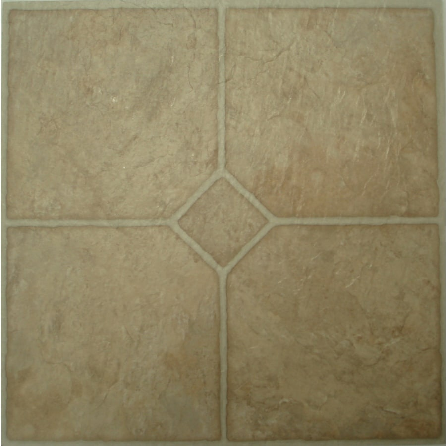 Style Selections 45-Piece 12-in x 12-in Chatsworth Peel-And-Stick Pattern Vinyl Tile