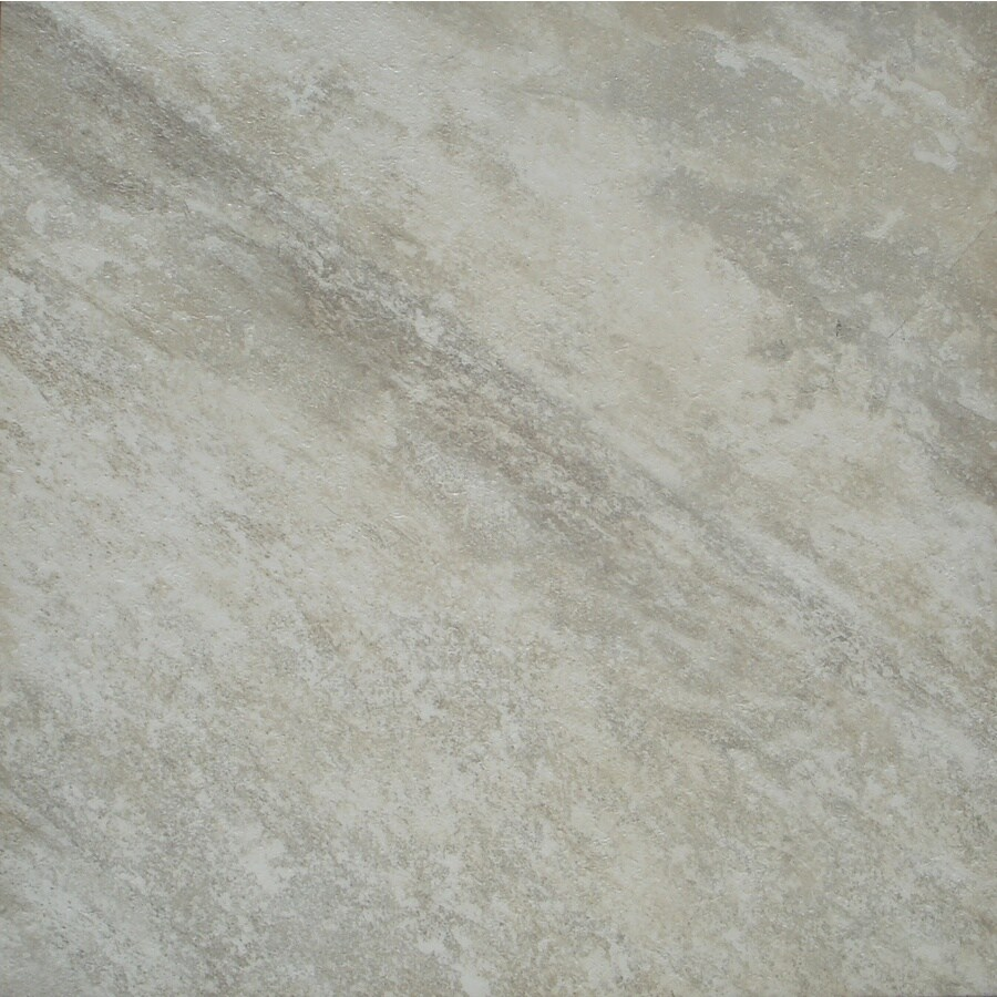 STAINMASTER 1-Piece 18-in x 18-in Groutable White Peel-And-Stick Travertine Luxury Commercial/Residential Vinyl Tile