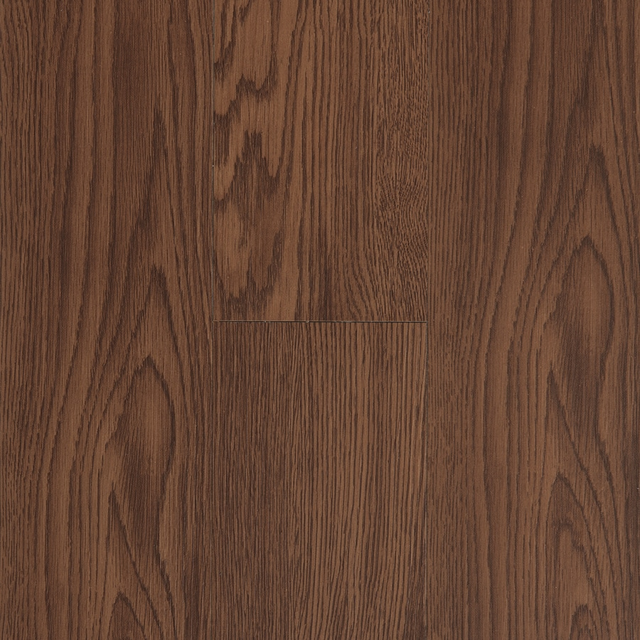 Style Selections 4-in x 36-in Gunstock Peel-and-Stick Oak Residential Vinyl Plank
