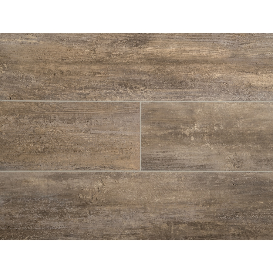 Shop vinyl tile at lowes stainmaster 1 piece 6 in x 24 in groutable naturale petrified wood peel dailygadgetfo Images