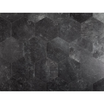 1 Piece 7 3 4 In X 9 In Groutable Obsidian Peel And Stick Vinyl Tile