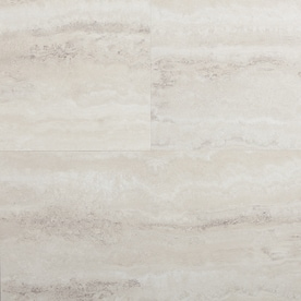 STAINMASTER Stainmaster 1 Piece 12 In X 24 In Groutable Oyster Travertine  Peel