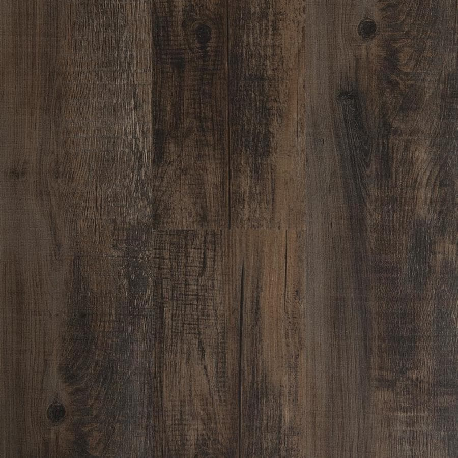 Style Selections 6-in x 36-in Antique Woodland Oak/Drk Brown Peel-And-Stick Residential Vinyl Plank