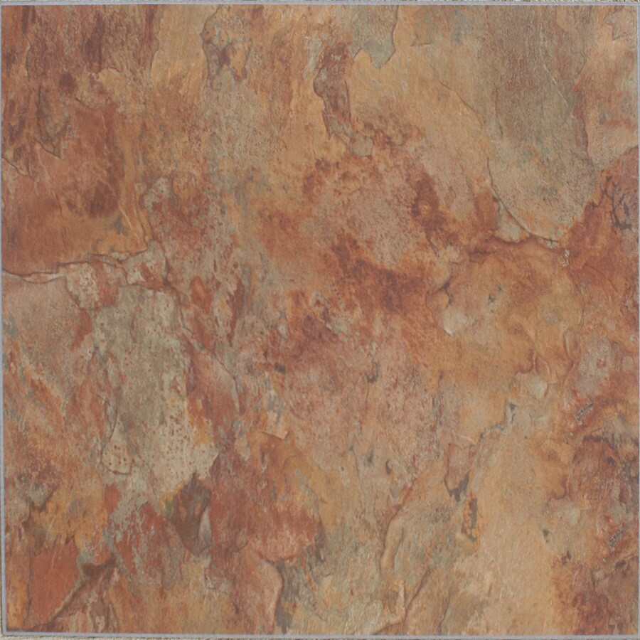 Style Selections 10-Piece Copper Slate Peel-And-Stick Vinyl Tile