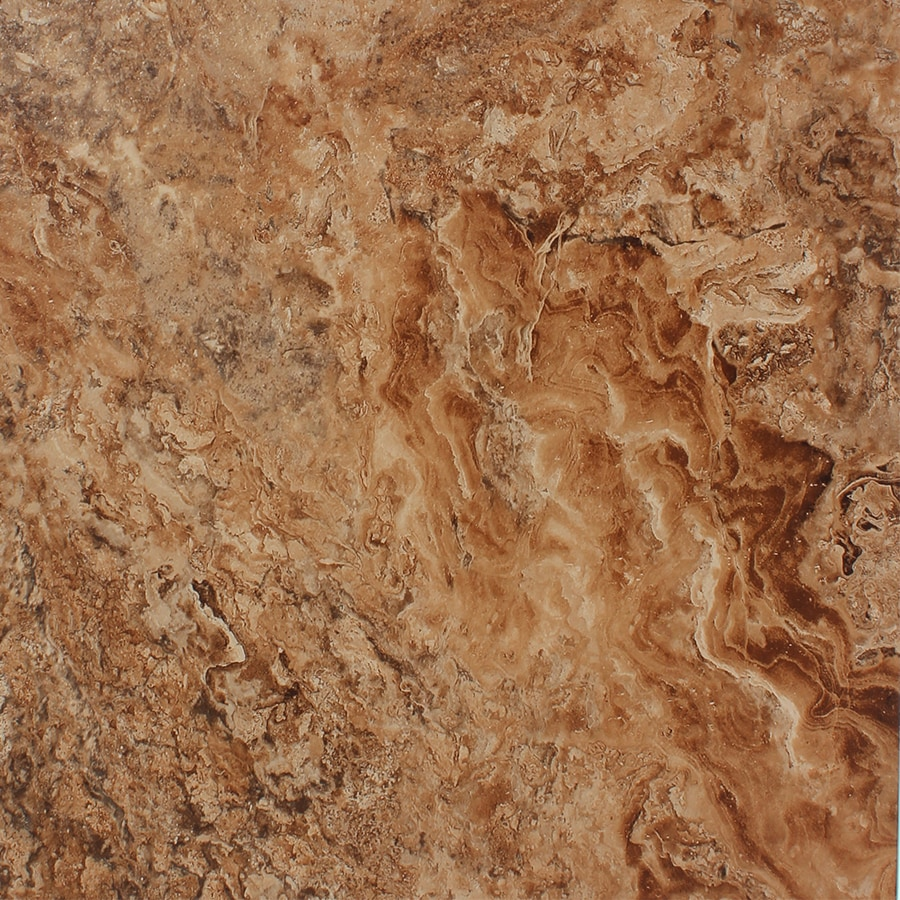 STAINMASTER 1-Piece 18-in x 18-in Groutable Corsica Cavern/Brown Peel-And-Stick Stone Luxury Vinyl Tile