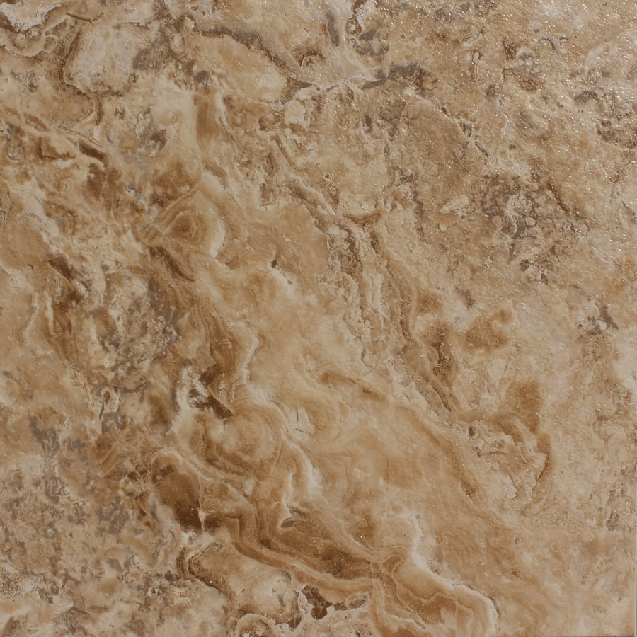 STAINMASTER 1-Piece 18-in x 18-in Groutable Crushed Shell/ Light Brown Peel-And-Stick Stone Luxury Vinyl Tile Residential Vinyl Tile